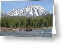 On The Snake River Greeting Card