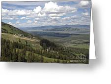 On Top Of Rendezvous Mountain Greeting Card