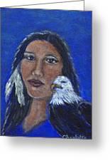 Onawa Native American Woman Of Wisdom Greeting Card