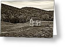 Once Upon A Mountainside Sepia Greeting Card