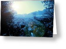 One Blue Morning Greeting Card