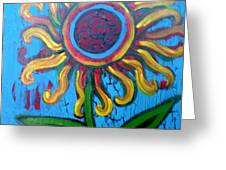 One Flower Greeting Card