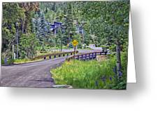One Lane Bridge - Vail Greeting Card