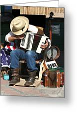 One Man Band Greeting Card