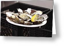 One Of The Best Luxurious Dishes Of Oysters Ive Ever Had Greeting Card