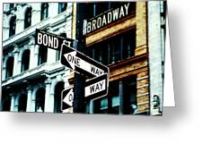 One Way Junction Greeting Card by Jenn Bodro