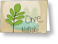 One With Nature Greeting Card by Linda Woods