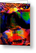 Only You Can See Me Greeting Card by Fania Simon