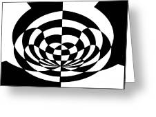 Op Art 2 Greeting Card by Methune Hively