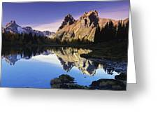 Opabin Lakes In Yoho National Park Greeting Card