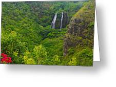 Opaekaa Falls Greeting Card
