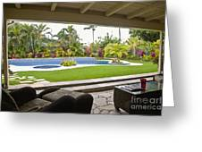 Open Air Luxury Patio Greeting Card