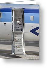 Open Airplane Stairs Greeting Card by Jaak Nilson