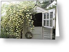 Open Dutch Door On Shed Greeting Card by Roberto Westbrook