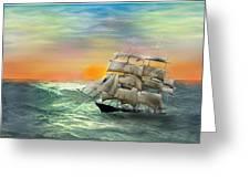 Open Seas Greeting Card by diane haas
