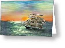 Open Seas Greeting Card by Diane Haas