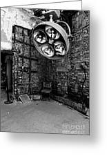 Operating Room - Eastern State Penitentiary - Black And White Greeting Card