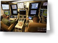 Operators Control Uavs From A Ground Greeting Card by HIGH-G Productions