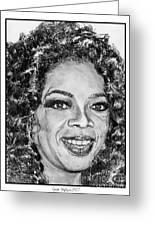 Oprah Winfrey In 2007 Greeting Card