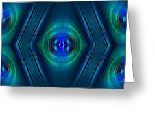 Optical Blue Greeting Card