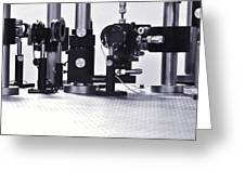 Optical Science Equipment Greeting Card