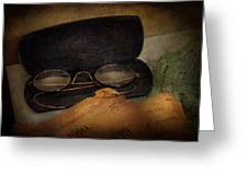 Optometrist - Glasses For Reading  Greeting Card by Mike Savad