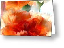 Orange Carnations Greeting Card