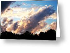 Orange Clouds Greeting Card