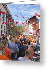 Orange Day Party Greeting Card