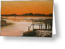 Orange Estuary Greeting Card