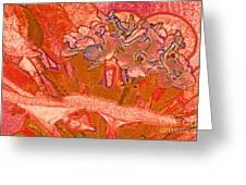 Orange Joy Greeting Card