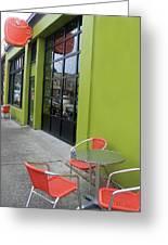 Orange Neon Coffee Greeting Card