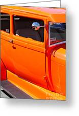 Orange Passenger Door Greeting Card