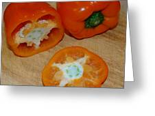 Orange Peppers Greeting Card