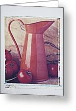 Orange Pitcher And Tomatoes Greeting Card
