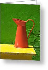 Orange Pitcher Greeting Card by Garry Gay