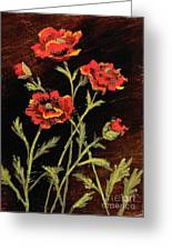 Orange Poppies II Greeting Card