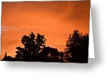 Orange Sky Greeting Card by Naomi Berhane