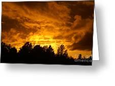 Orange Stormy Skies Greeting Card