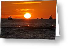 Orange Sunset I Greeting Card