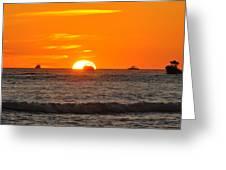 Orange Sunset V Greeting Card