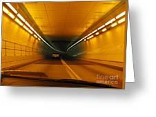 Orange Tunnel In Dc Greeting Card