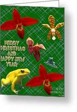 Orchid Gardens Greeting Card