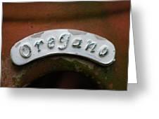 Oregano Greeting Card