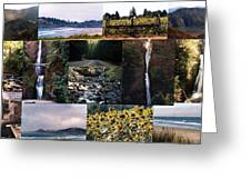Oregon Collage From Sept 11 Pics Greeting Card