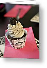 Oreo Cupcake Greeting Card by Malania Hammer