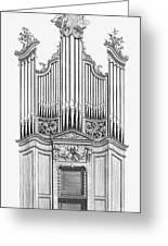 Organ, 1760 Greeting Card