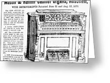 Organ Ad, 1870 Greeting Card