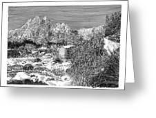 Organ Mountain Wintertime Greeting Card by Jack Pumphrey