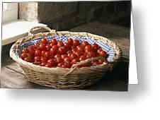 Organic Cherry Tomatoes Greeting Card